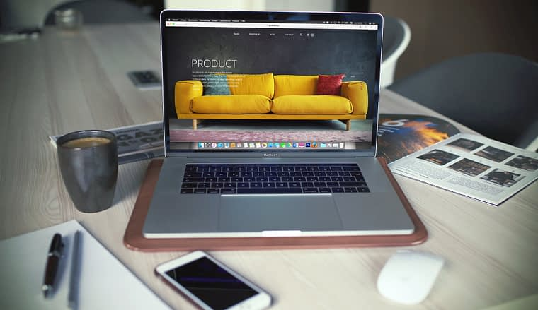 product page website