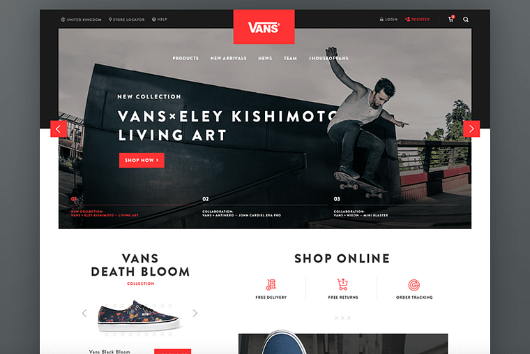 illustration of shopify webshop template