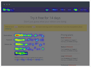 Click heatmap of Capturly