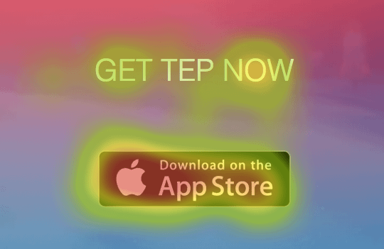 click heatmap on app download call to action